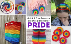 quick free PRIDE crochet patterns